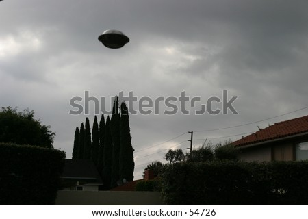 ufo over my neighborhood