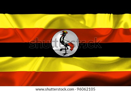Uganda waving flag - stock photo
