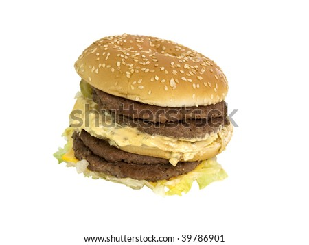 ugly fat double burger