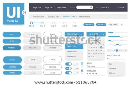 UI kit web template