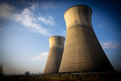 UK Decommissioned Power Station Coal Cooling Tower