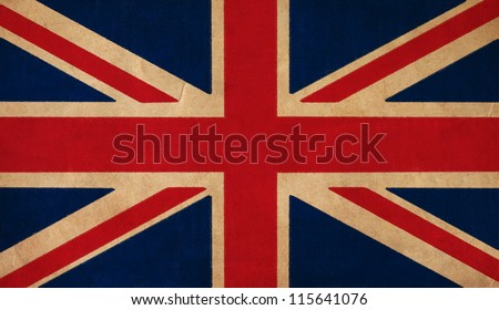 UK flag drawing ,grunge and retro flag series
