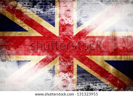 UK flag waving in the wind