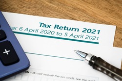 UK HMRC self assessment income tax return form 2021