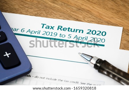 UK HMRC self assessment income tax return form 2020