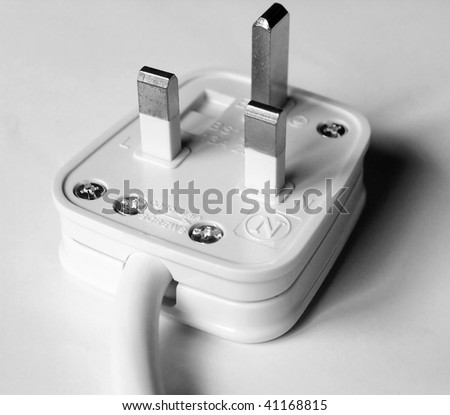 UK mains power plug for British sockets BS1363