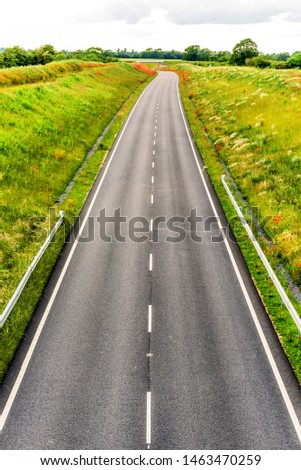 uk motorway road overhead view at daylight #1463470259