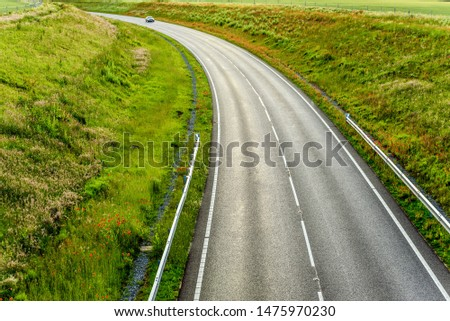 uk motorway road overhead view at daylight #1475970230