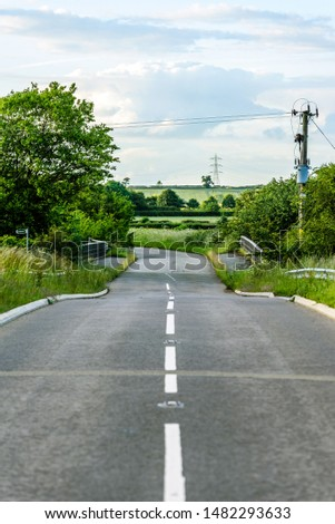 uk motorway road overhead view at daylight #1482293633