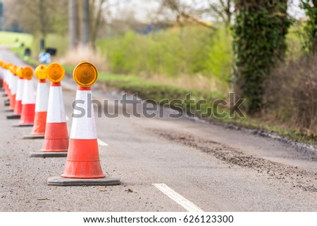 UK Motorway Services Roadworks Cones #626123300