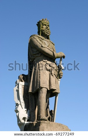 UK Scotland Stirling Statue of the Scottish King Robert the Bruce