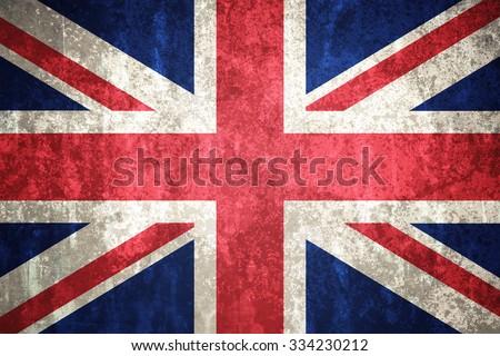 UK, United Kingdom flag on concrete textured background