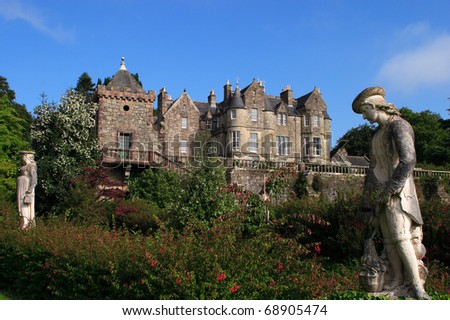 UK Western Scotland Isle of Mull Torosay Castle - Victorian Scottish baronial style architecture and Italian Renaissance style garden