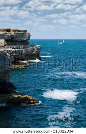 Ukraine, Crimea (abrupt coast, stones, pure water and good weather).