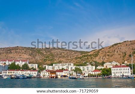 Ukraine, Crimea, Balaclava bay, harbor for yachts and the small ships