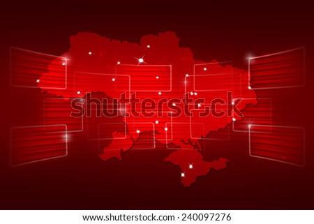 Ukraine Map World map News Communication logistics red