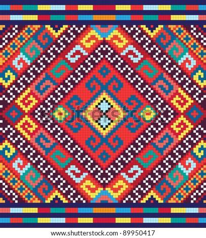 Ukrainian ethnic seamless ornament, #41,