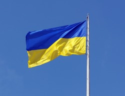 Ukrainian flag at kiev