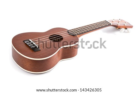 ukulele on white