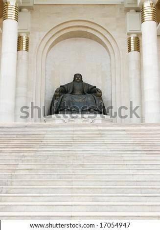Ulan Bator , Mongolia: statue of Genghis Khan