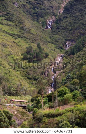 ULBA WATERFALL, LONGEST WATERFALLS GROUP IN THE ECUADORIAN ANDES