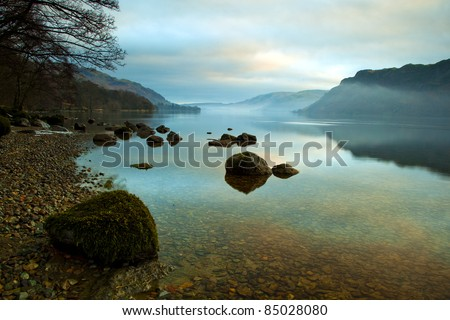 Ullswater at Sunrise, Lake District, Cumbria UK