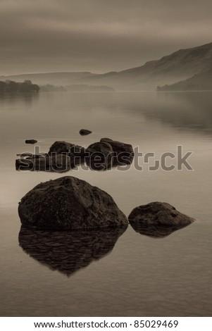 Ullswater Sepia, Lake District, Cumbria UK