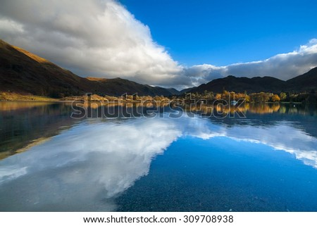 ullswater with reflection in...