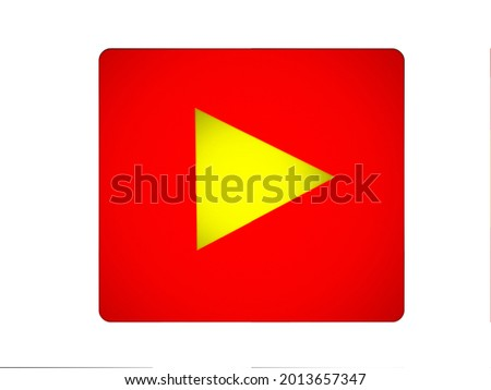 Ultra Red Play Button 3D-illustration