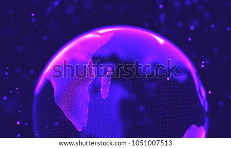 Ultra violet galaxy background. Space background illustration universe with Nebula. 2018 Purple technology background. Artificial intelligence concept
