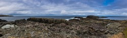 Ultra wide panorama on the island of Inishbofin