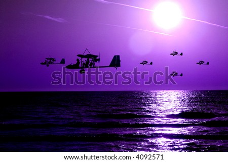 Ultralights above sea