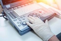 Ultrasound equipment. Diagnostics. Sonography.