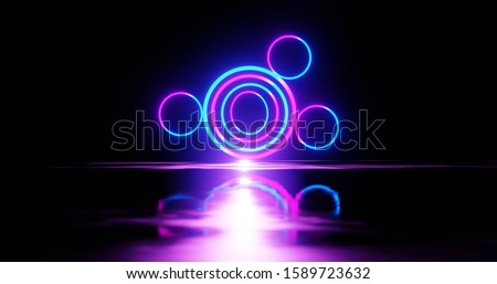 ultraviolet spectrum, blue violet neon lights, laser show, night club, equalizer, abstract fluorescent background, optical illusion, virtual reality, physics concept, physics lab, science background