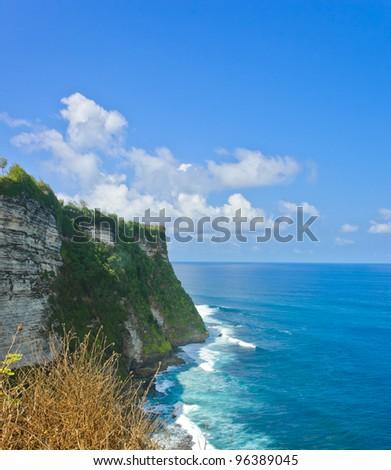 Uluwatu cliff bank in Bali, Indonesia
