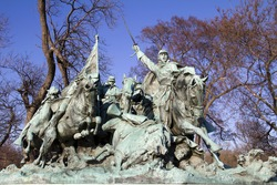 Ulysses S. Grant Cavalry Memorial at the Western base of Capitol Hill in Washington DC