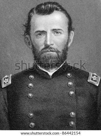 Ulysses S. Grant (1822-1885). Engraved by anonymous engraver and published in The History of England, United Kingdom, 1872.