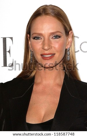 Uma Thurman at the Elle Magazine 17th Annual Women in Hollywood, Four Seasons, Los Angeles, CA 10-15-12