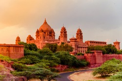 Umaid Bhawan Palace is large private residences, designed by architect Henry Vaughan Lanchester as blend of western technology & Indian architectural features.