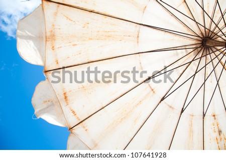 umbrella beach and blue sky