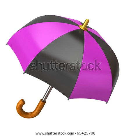 Umbrella on a white background