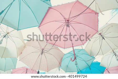 Umbrella pattern with pastel color tone #401499724