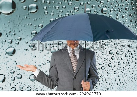 Umbrella, Rain, Men.
