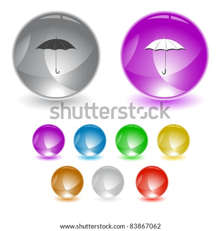 Umbrella. Raster interface element. Vector version is in portfolio.