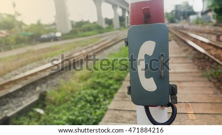 pic  stock photo unavailable of emergency telephone at train station