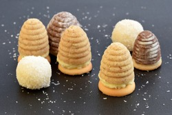 Unbaked cookies - wasp nests and coconut balls