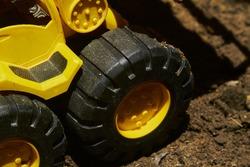 Unbranded Toy Bulldozer Tires, Black unbranded toy bulldozer tires