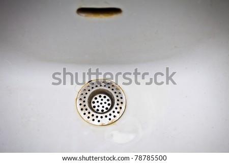 Unclean bathroom sink