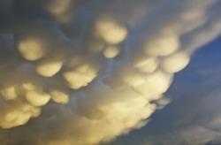 uncommon rain clouds in the sky