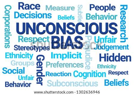 Unconscious Bias Word Cloud on White Background Stockfoto ©